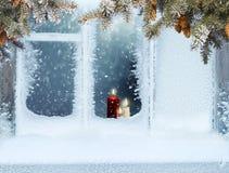 Glad jul och hälsningkort för lyckligt nytt år med kopia-utrymme Royaltyfri Foto