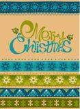 Glad jul och kort för lyckligt nytt år Arkivbilder