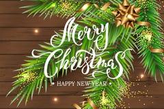 Glad jul och kort f?r lyckligt nytt ?r royaltyfri illustrationer