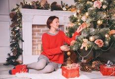 Glad jul och lyckliga ferier! Royaltyfria Bilder