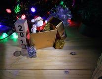 Glad jul och lyckliga nya år 2017 Fotografering för Bildbyråer