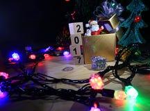 Glad jul och lyckliga nya år 2017 Arkivbild