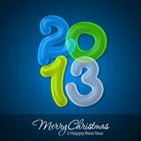Glad jul och lyckligt nytt år 2013 Royaltyfri Bild