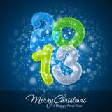Glad jul och lyckligt nytt år 2013 Arkivfoto