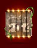 Glad jul och lyckligt nytt år 2014 Royaltyfri Fotografi