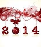 Glad jul och lyckligt nytt år 2014 vektor illustrationer