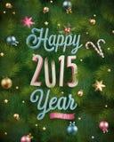 Glad jul och lyckligt nytt år Royaltyfria Foton