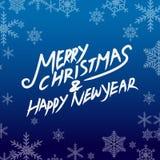 Glad jul och lyckligt nytt år Royaltyfri Fotografi