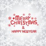 Glad jul och lyckligt nytt år Royaltyfria Bilder