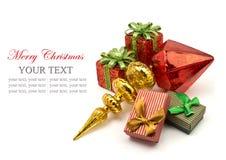 Glad jul och lyckligt nytt år Arkivfoton