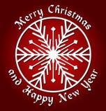 Glad jul och lyckligt nytt år Royaltyfri Foto