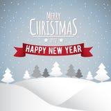 Glad jul och lyckligt nytt år Royaltyfri Bild