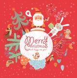 Glad jul och lyckligt nytt år! Arkivbilder