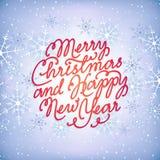 Glad jul och lyckligt nytt år Royaltyfri Illustrationer