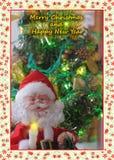 Glad jul och lyckligt nytt år Arkivbilder