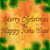 Glad jul och lyckligt nytt år Arkivbild