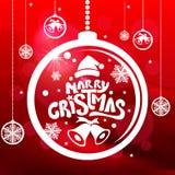 Glad jul och lyckligt nytt år! Hälsningkort Royaltyfria Foton