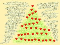 Glad jul och lyckligt nytt år - illustration Arkivfoto