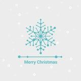 Glad jul och lyckligt nytt år, linje Minimalist stilhälsningkort, härlig elegant design, vektorillustration Arkivbilder
