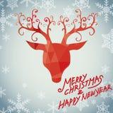 Glad jul och lyxiga rudolph Fotografering för Bildbyråer