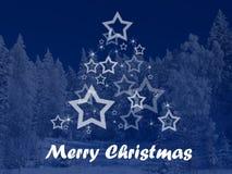 Glad jul och stjärnor Arkivbilder