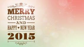 Glad jul och video för lyckligt nytt år 2015 stock video
