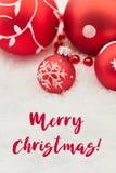 Glad jul på feriekort Arkivbilder