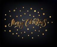 Glad jul räcker utdragen bokstäver som isoleras på bakgrund  stock illustrationer