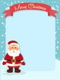 Glad jul Santa Banner Notes Royaltyfri Fotografi