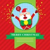 Glad jul Santa Claus Arkivbilder