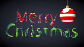 Glad jul smsar gjort med färger för olje- målarfärg Royaltyfria Bilder