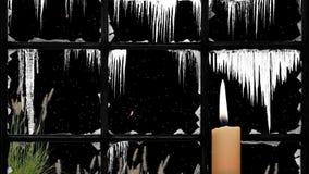 Glad jul som framför som är video i HD vektor illustrationer