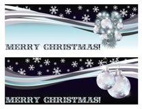 Glad jul som hälsar baner Arkivbild