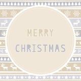 Glad jul som hälsar card39 Arkivfoto