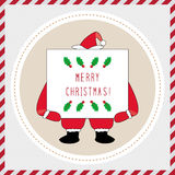 Glad jul som hälsar card42 Arkivbild