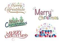 Glad jul som hälsar logo Fotografering för Bildbyråer