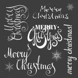 Glad jul som märker designuppsättningen Arkivfoto