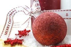 Glad jul, stearinljus, stjärnor Royaltyfri Bild