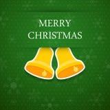 Glad julbakgrund med sätta en klocka på. Royaltyfri Foto