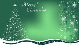 Glad julgranbakgrund Arkivfoton