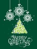 Glad julkort Fotografering för Bildbyråer