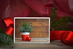 Glad julkort Arkivfoto