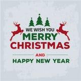 Glad julkort Royaltyfri Bild
