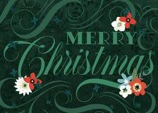 Glad julkort för grön krusidull vektor illustrationer