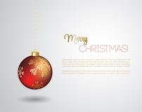 Glad julkort med den röda struntsaken Royaltyfri Foto