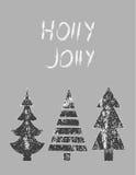Glad julkort också vektor för coreldrawillustration Royaltyfri Bild