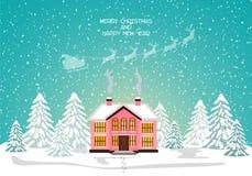 Glad julkort också vektor för coreldrawillustration lyckligt nytt år Fotografering för Bildbyråer