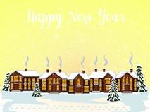 Glad julkort också vektor för coreldrawillustration lyckligt nytt år Royaltyfri Fotografi