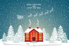 Glad julkort också vektor för coreldrawillustration lyckligt nytt år Royaltyfri Foto