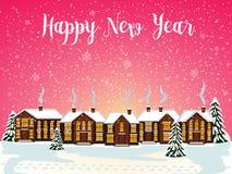 Glad julkort också vektor för coreldrawillustration lyckligt nytt år Arkivfoton